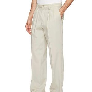 DOCKERS Pleat Front Light Tan Khakis  38x32""